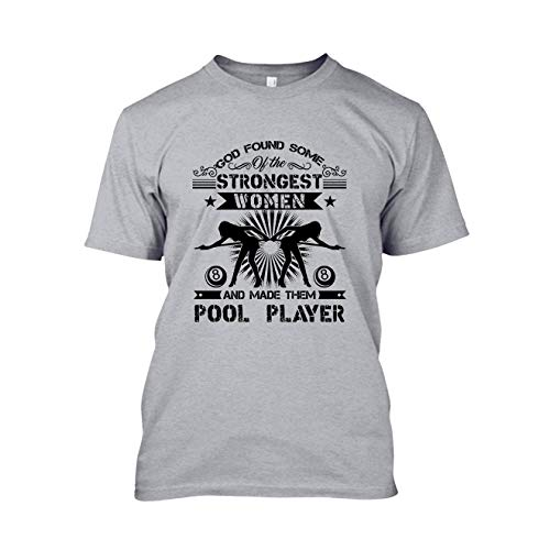 God Made Female Pool Players Short Sleeve Shirt Design, Clothes Grey,S