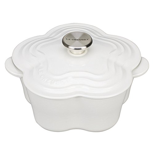 Le Creuset L2104-0216S Flower Oven with Stainless Steel Knob, 2.25 quart, White by Le Creuset