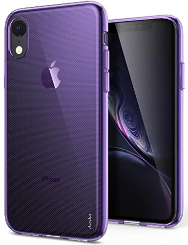 iPhone XR Case, Aeska Ultra [Slim Thin] Flexible TPU Soft Skin Silicone Protective Case Cover for Apple iPhone XR (6.1') (Purple) (Skin Phone Purple)