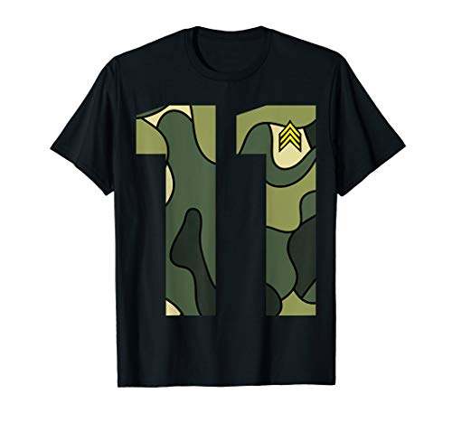 Cute Little Birthday 11 Year Old Youth Camouflage Shirt Gift