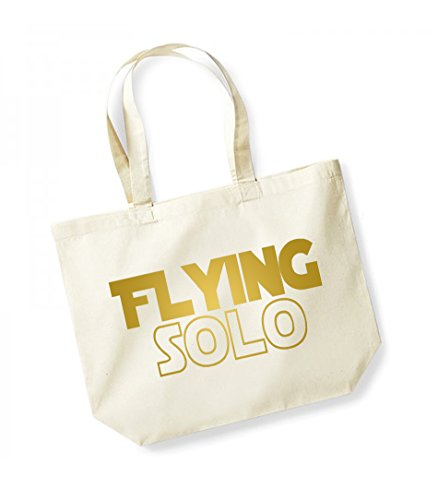 Unisex Solo Flying Tote Natural Canvas Cotton gold Bag Slogan RqPr6R