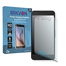 2x Mikvon Armor Screen Protector for LG Google Nexus 5X screen fracture protection film - Retail Package with accessories