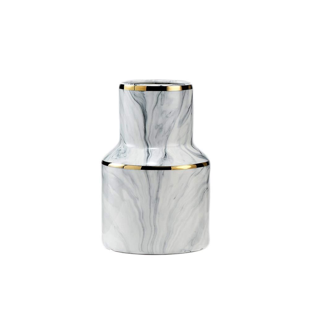 花瓶 金の端インク質のオフィスの家の装飾が付いている陶磁器の花瓶のハンドメイドの技術 (サイズ さいず : 36.5*15.7cm) B07RKT553B  36.5*15.7cm