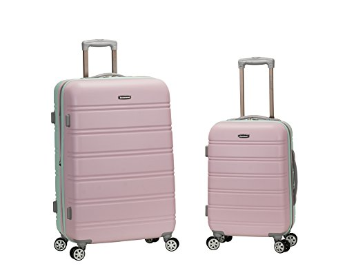 Rockland 20 Inch 28 Inch 2 Piece Expandable ABS Spinner Set, Mint, One Size by Rockland