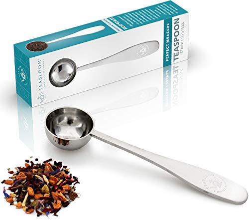 Cuchara Medidora Teabloom Perfecta para Te a Granel - Cuchara de Te de Acero Inoxidable Pulido