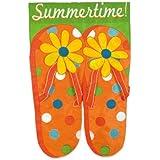 Garden Flag Summertime Flip Flops
