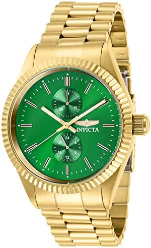 Invicta Men s Specialty Quartz Watch with Stainless Steel Strap, Gold, 22 Model 29429