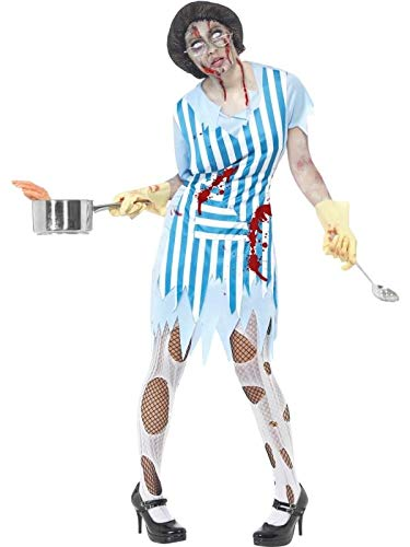 Smiffy's High School Horror Zombie Lunch Lady Costume Adult -