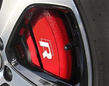 4 pegatinas para pinza de freno de Volkswagen R-Line Hi, Resistentes al calor, Pegatinas de vinilo: Amazon.es: Coche y moto
