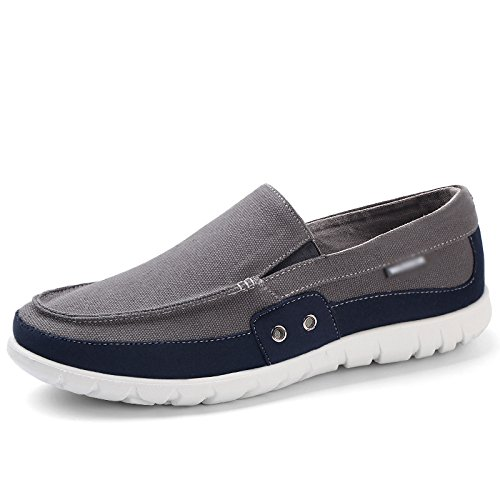 Grigio studenti stoffa WFL scuro Estate maschi un scarpe uomini scarpe di tela casual di scarpe scarpe pedale pigri YaSwYHq