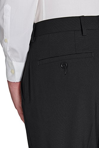 next Homme Pantalon sans pinces Noir Élastique 28 / Regular - Regular Fit