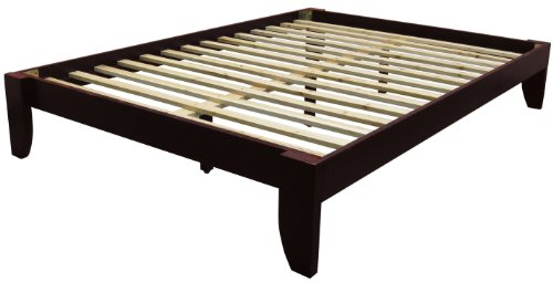 Bedroom Mahogany Bed (Epic Furnishings Stockholm Solid Wood Bamboo Platform Bed Frame, Full-size, Mahogany Finish)