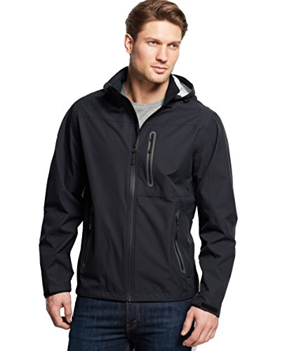 Hawke Co. Outfitter Men's Waterproof Hipster Hooded Jacket, Black (X-Large) (Hawke Co Outfitter)