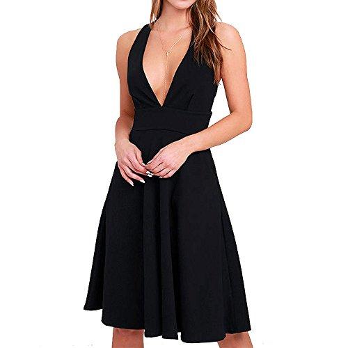 Jersey Deep V-Neck Dress - 2
