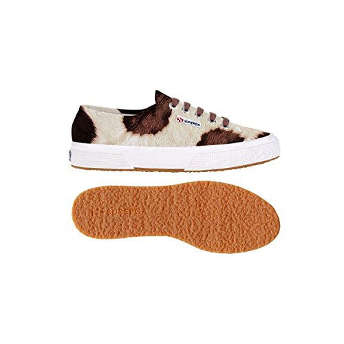 Superga 2750-leahorseu - Zapatillas de deporte Unisex adulto Off White-Brown