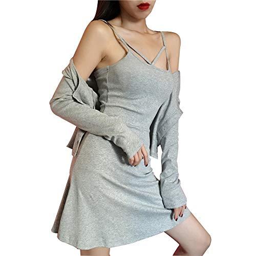 Dcontract Jupe Rservoir Sexy Costume Gray Pengpengran Camisole Ourlet Robe lgant Rservoir Dames 2Pack pUBqnfx06