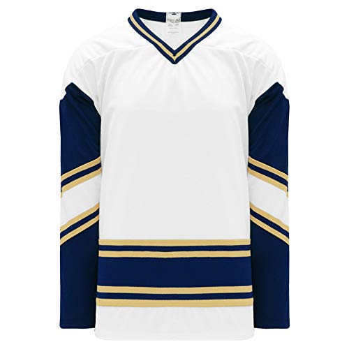 Notre Dame White V-Neck Pro Plain Blank Hockey Jerseys