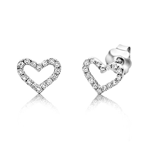 Miore - Boucles d'oreilles - Or blanc 9 cts - Diamant 0.09 cts - MF9030E