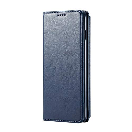 DEESEE(TM) New Leather Slot Wallet Stand Flip Cover Skin Case For Samsung Galaxy S10 (6.1 inch, Dark Blue) ()