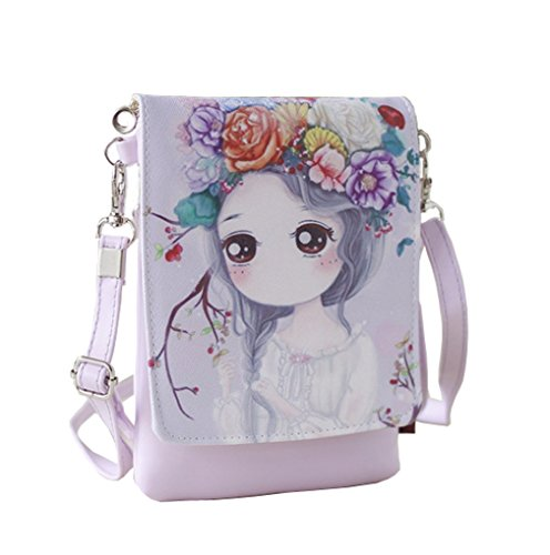 Teens Girls Kids Students Cute Cartoon Theme Mini Shoulder Bags Cross Body Bags Key Money Cell Phone Holder Case Purse Small Wallet Pouches Clutch Handbag Bag Fashion Camera Wallet