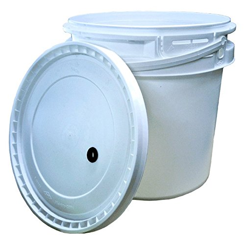 2 Gallon Plastic Fermenter w/ drilled lid by Midwest Brewing and Winemaking Supplies
