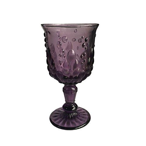 KCHAIN Wine Champagne Juice Glass Goblet 10oz (Seaweed Purple)