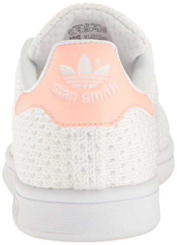 Adidas Originals Damesko Stan Smith Mode Sneakers, Hvid / Hvid / Tåge Koral, 8,5 M Os