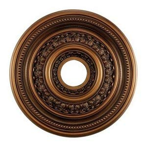 Elk M1002AB English Study Ceiling Medallion, 18-Inch, Antique Brass Finish ()