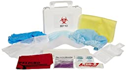 First Voice BP004 Deluxe Wall Mounted Bloodborne Pathogen Cleanup kit