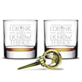 I Drink And I Know Things Highball Whiskey Glasses - Set of 2 -