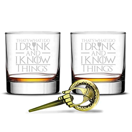 I Drink And I Know Things Highball Whiskey Glasses - Set of 2 - by FOLE (Image #8)