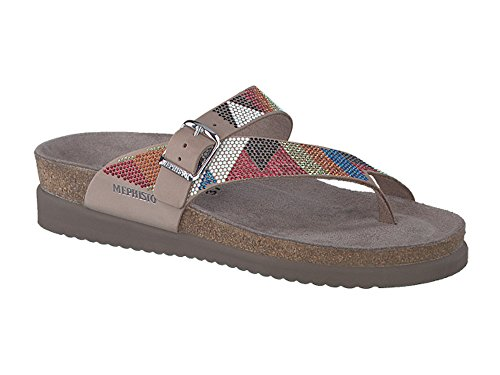 Mephisto Women's Helen SPARKN Slide Sandal, Taupe/red, 10 M US (Red Patent Leather Danskos)