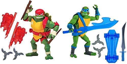 Rise of the Teenage Mutant Ninja Turtles Raphael & Leonardo Action Figure Set of 2 -
