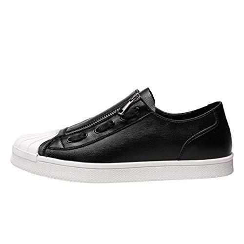 YAN Herrenschuhe Microfiber Spring & Fall Low-Top-Schuhe Academy Deck Schuhe Wanderschuhe Fashioncasual Daily Wanderschuhe,schwarz,43