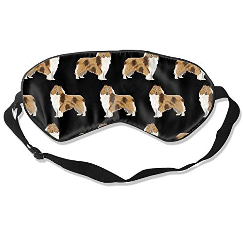 MrDecor Natural Silk Sleep Mask Blindfold - Super-Smooth Eye Mask -Rough Collie Dog