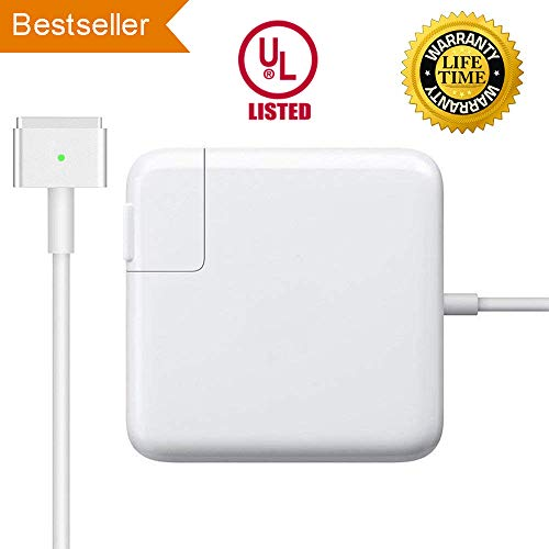 Mac Book Pro Charger, Born for Mac Notebook Replacement 85w Magsafe2 T-Type Power Adapter Ac Charger Suitable for Mac Book Pro 13-inch 15inch and 17 inch (After Late Mid 2012) (85w)