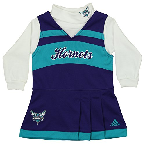 - adidas NBA Infants Girls Cheer Jumper Dress with Turtleneck, Charlotte Hornets 12 Months