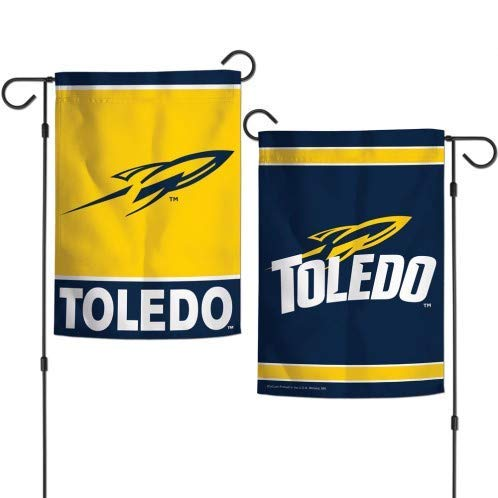 XGUPKL University of Toledo Rockets Garden Flag NCAA Two-Sided for Party Outdoor Home Decor Size: 28-inches W X 40-inches H]()