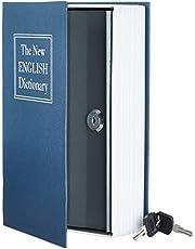 AmazonBasics Book Safe, Key Lock, Blue