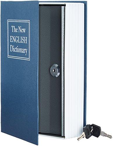 Target Lock - AmazonBasics Book Safe, Key Lock, Blue