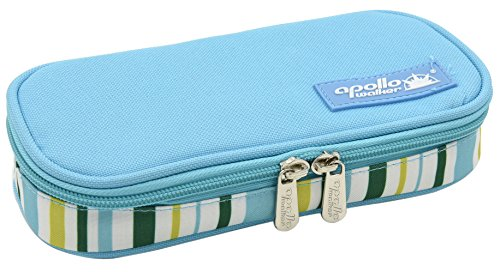 Goldwheat Portable Insulin Cooler Bag Diabetic Organizer Medical Travel Cooler,No Ice Pack (Light Blue)