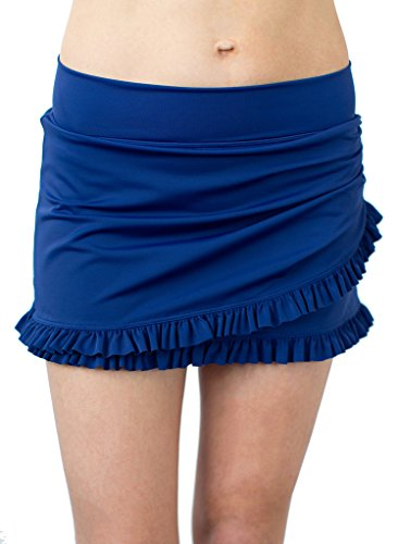Ruffle Wrap Blueberry Skirt w/ Bottom