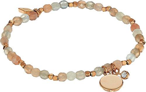 Fossil Moonstone Bracelet, Beige, One Size Fossil Womens Charm