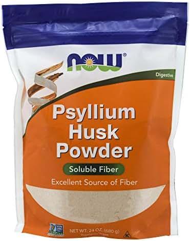 NOW Supplements, Psyllium Husk Powder, 24-Ounce