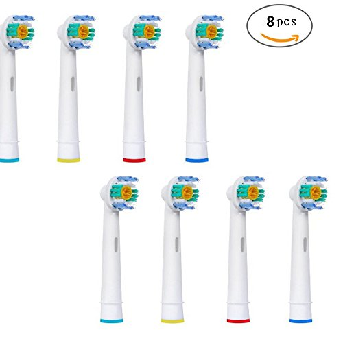 B-Bay Premium Replacement Toothbrush Heads for Braun Oral B 3DWhite/Pro Bright EB18-4(EB-18A) Standard Size Toothbrushes, 8 Count(2-Pack).