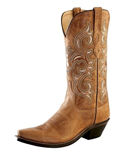 LF1541 Old Lined B Womens Leather Boots Fry Snip Tan West Cowboy Toe 6 RRSw7Ar