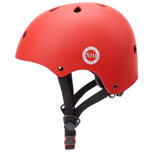 XJD Toddler Helmet Kids Bike Helmet CPSC Certified Adjustable Bike Helmet Ages 3-8 Girls Boys Safety Skating Scooter Cycling Rollerblading (Red)