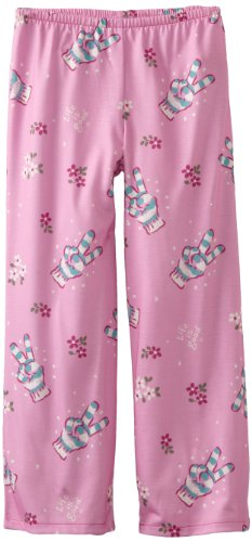 Girls Pant Life Good Sleep Is (Life is Good Girl's Sleep Pant, Tossed Pce Glove, Peony Pink, Small)
