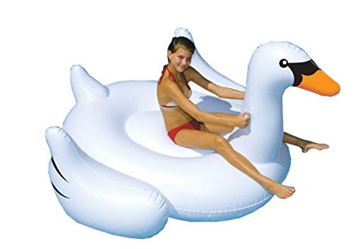 Swimline Giant Inflatable Ride-On 75-Inch Swan Float For Swimming Pools, 90621, New, Free Shipping (Human Water Hamster Ball)
