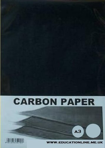 A3 CARBON PAPER 40 SHEET PACK COLOUR - BLACK DALTON MANOR